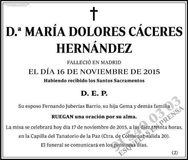 María Dolores Cáceres Hernández